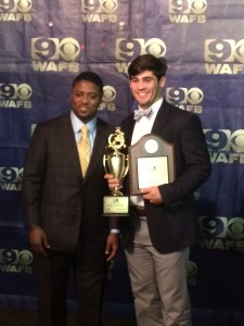 Zach Kelly WAFB player of the week award